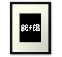 BEER - WHITE Framed Print