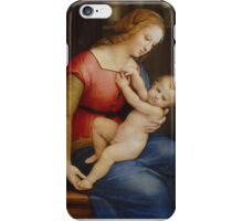 Raphael -The Madonna of the house of Orleans iPhone Case/Skin