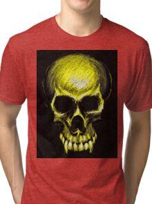 Yellow vampire skull Tri-blend T-Shirt