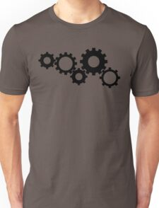 Gears - Black Unisex T-Shirt