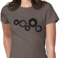 Gears - Black Womens Fitted T-Shirt