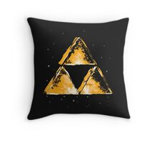 Triforce in Space  Throw Pillow