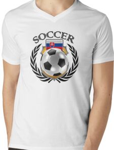 Slovakia Soccer 2016 Fan Gear Mens V-Neck T-Shirt