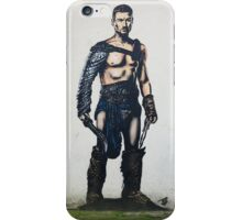 Gladiator street art stencil in Bristol. iPhone Case/Skin