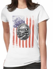 Never Mind the British. Here Comes Alexander Hamilton. Womens Fitted T-Shirt