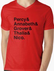 Percy & Annabeth & Grover & Thalia & Nico. (Percy Jackson) Mens V-Neck T-Shirt