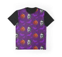Happy Happy Halloween Pattern Graphic T-Shirt