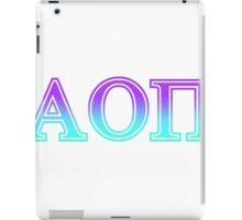 alpha omicron pi aopi sorority sticker  iPad Case/Skin