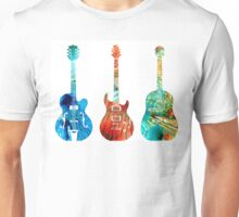 Abstract Guitars by Sharon Cummings Unisex T-Shirt