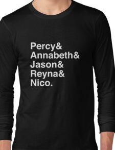 Percy & Annabeth & Jason & Reyna & Nico. (Percy Jackson) (Inverse) Long Sleeve T-Shirt