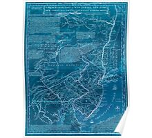 American Revolutionary War Era Maps 1750-1786 072 A map of Pensilvania New Jersey New York and the three Delaware counties 3 Inverted Poster