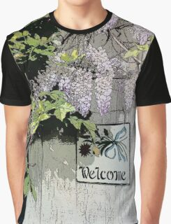 Vintage Welcome Wisteria Floral Graphic T-Shirt