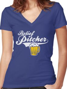 Beer - Relief Pitcher Women's Fitted V-Neck T-Shirt