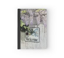 Vintage Welcome Wisteria Floral Hardcover Journal