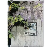 Vintage Welcome Wisteria Floral iPad Case/Skin