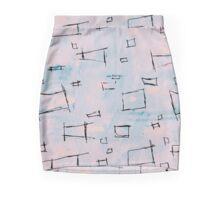 Serenity Squares of Rose Mini Skirt