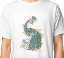 Patterned Peacock Classic T-Shirt