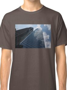 Sky and Sky - Toronto Skyscraper Reflecting Fluffy White Clouds Classic T-Shirt