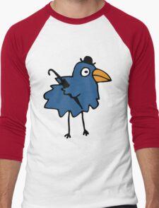 Business Bird - Blue Men's Baseball ¾ T-Shirt