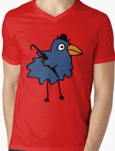 Business Bird - Blue Mens V-Neck T-Shirt