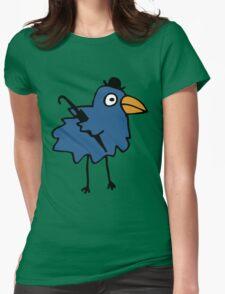 Business Bird - Blue Womens Fitted T-Shirt