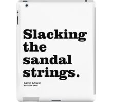 Misheard song lyrics - Aladdin Sane iPad Case/Skin