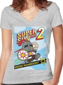 Super Sun Bro's 2 Women's Fitted V-Neck T-Shirt