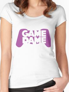 Game Dame - Violet Women's Fitted Scoop T-Shirt