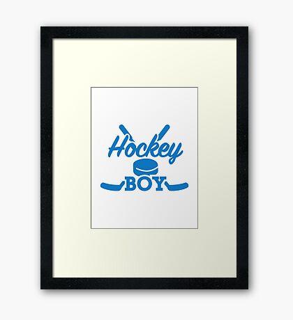 Hockey boy Framed Print