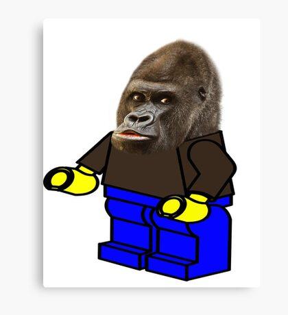 ape legoman Canvas Print