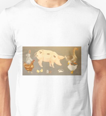 Farmyard Animals  Unisex T-Shirt