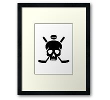 Hockey skull Framed Print