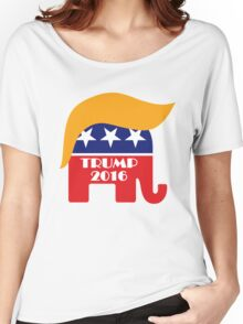 Trump 2016 GOP Elephant Hair ©TrumpCentral.org Women's Relaxed Fit T-Shirt