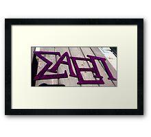 Sigma AEPi letters Framed Print