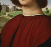 Raphael - Portrait of a Young Man in Red  Sticker
