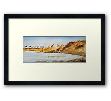 Beach Huts - Mudeford Spit  Framed Print