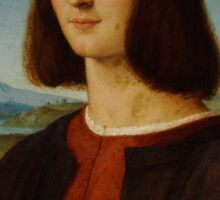 Raphael - Portrait of the Young Cardinal  Sticker