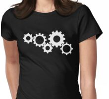 Gears - White Womens Fitted T-Shirt