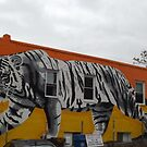 Tiger Mural, Newark Avenue, Journal Square, Jersey City, New Jersey by lenspiro