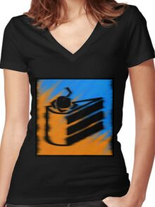 Orange and Blueberry Cake Women's Fitted V-Neck T-Shirt