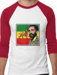 Haile Selassie-Lion of Judah Men's Baseball ¾ T-Shirt