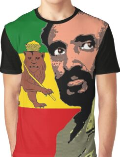 Haile Selassie-Lion of Judah Graphic T-Shirt