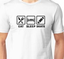 Eat sleep skate Unisex T-Shirt