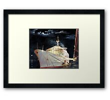 Canberra; Overnight in Hong Kong 1980 Framed Print