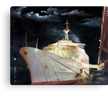 Canberra; Overnight in Hong Kong 1980 Canvas Print