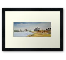 The Black House - Mudeford Framed Print