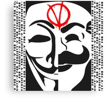 V for FSociety Canvas Print
