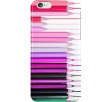 Cute Girly Pink Color Pencils iPhone Case/Skin