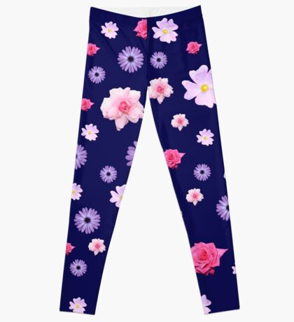 Mixed Roses and Other Flowers Leggings