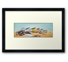 Beach Huts - Mudeford Spit (2) Framed Print